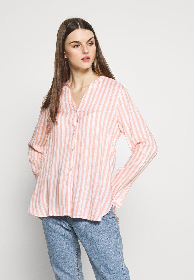 BYFABIANNE STRIPE - Button-down blouse - coral