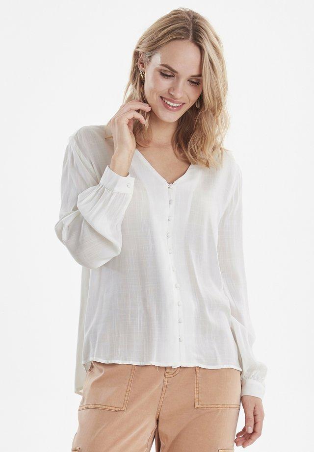 BYGINNY V-NECK SHIRT - LIGHT WOVEN - Blouse - off white
