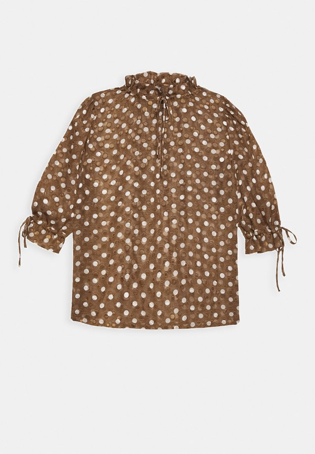 BXFAKI BLOUSE - Blouse - brown