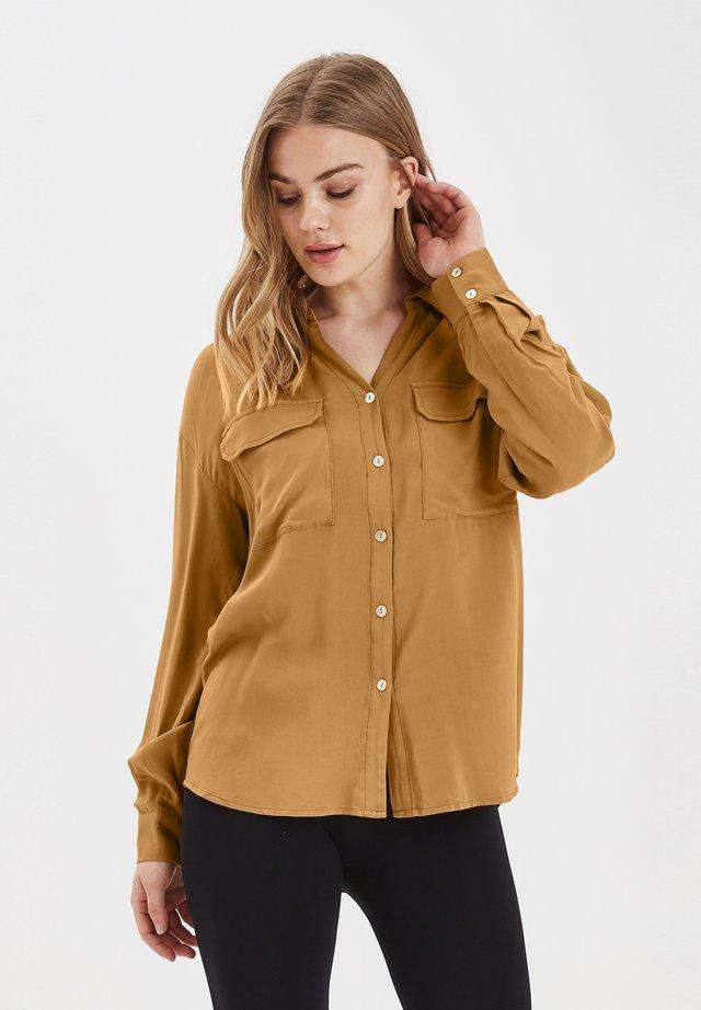 BYHELENE SHIRT - LIGHT WOVEN - Button-down blouse - safari brown