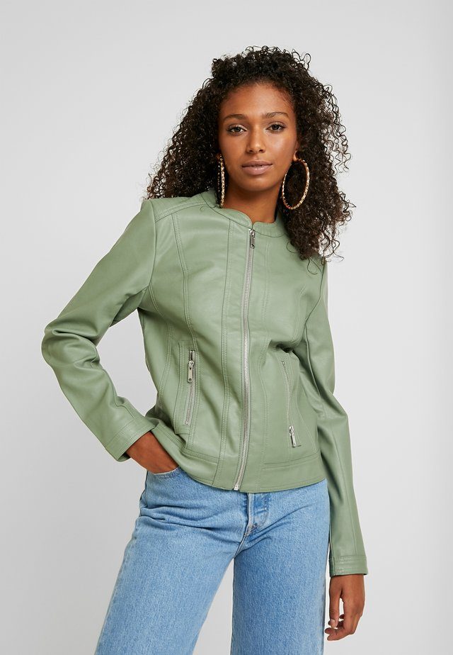 ACOM JACKET - Faux leather jacket - sea green