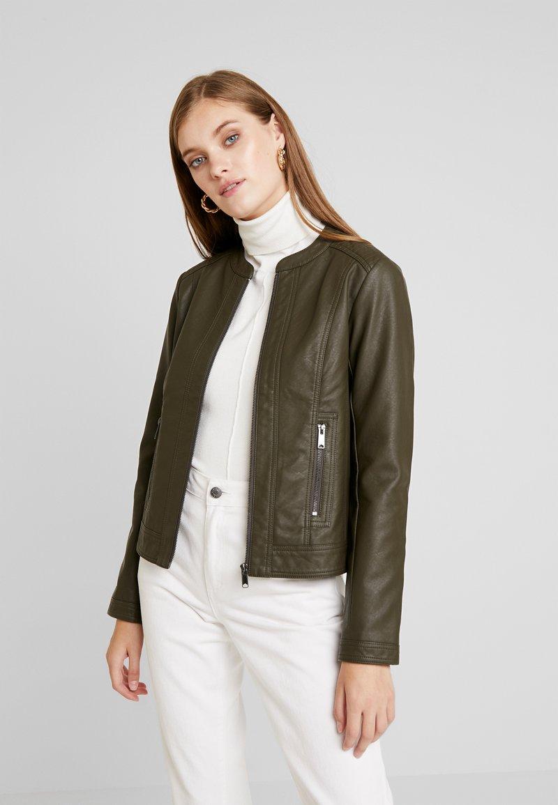 b.young - ACOM JACKET - Faux leather jacket - peat green