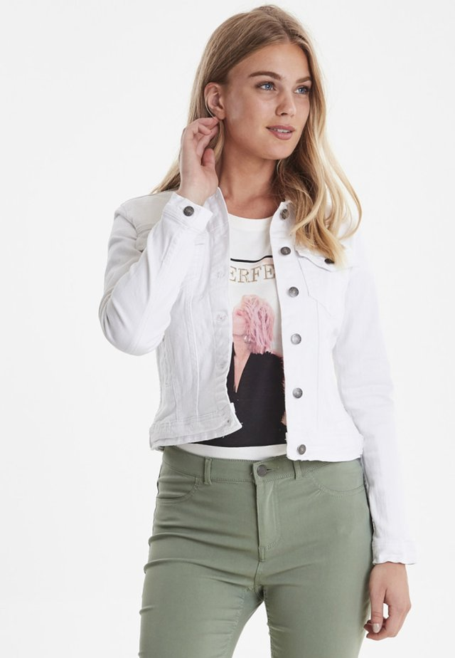PULLY - Jeansjacke - optical white