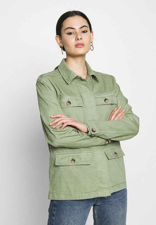 BYBOLCO JACKET - Denim jacket - sea green