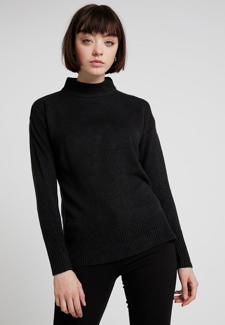 b.young - MALEA TURTLE NECK - Strickpullover - black