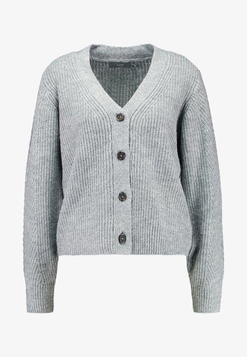 b.young BYNOVEA SHORT CARDIGAN - Kardigan - medium grey melange Odzież Damska LIIJ-TM3 oferta