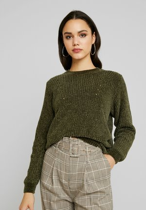 BYMONA JUMPER - Pullover - olive night