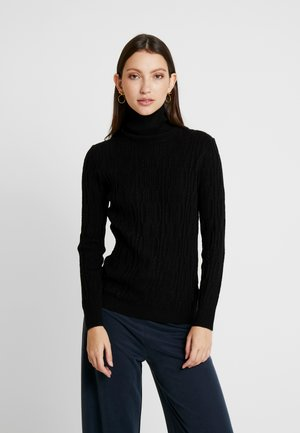 BYNANKA ROLLNECK JUMPER - Jersey de punto - black