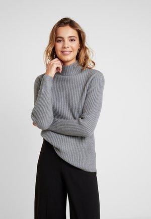 BYNORA JUMPER - Strikkegenser - medium grey melange