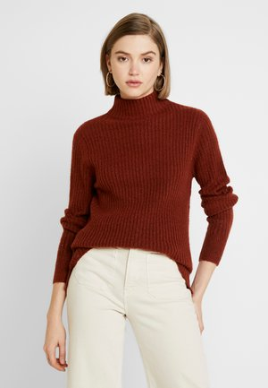 BYNORA JUMPER - Sweter - dark copper