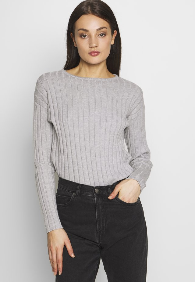 JUMPER - Stickad tröja - light grey melange