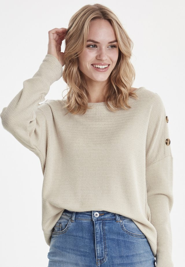 BYSANNA - Jumper - mottled beige