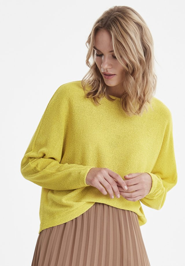 BYSIF PULLOVER - JERSEY - Jumper - acid yellow