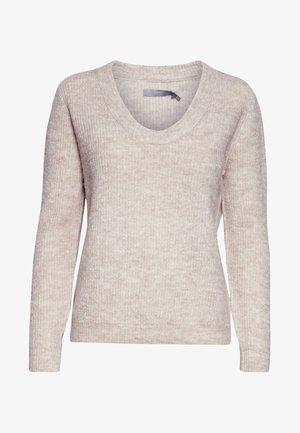 BYMARTINE - Sweter - mottled beige