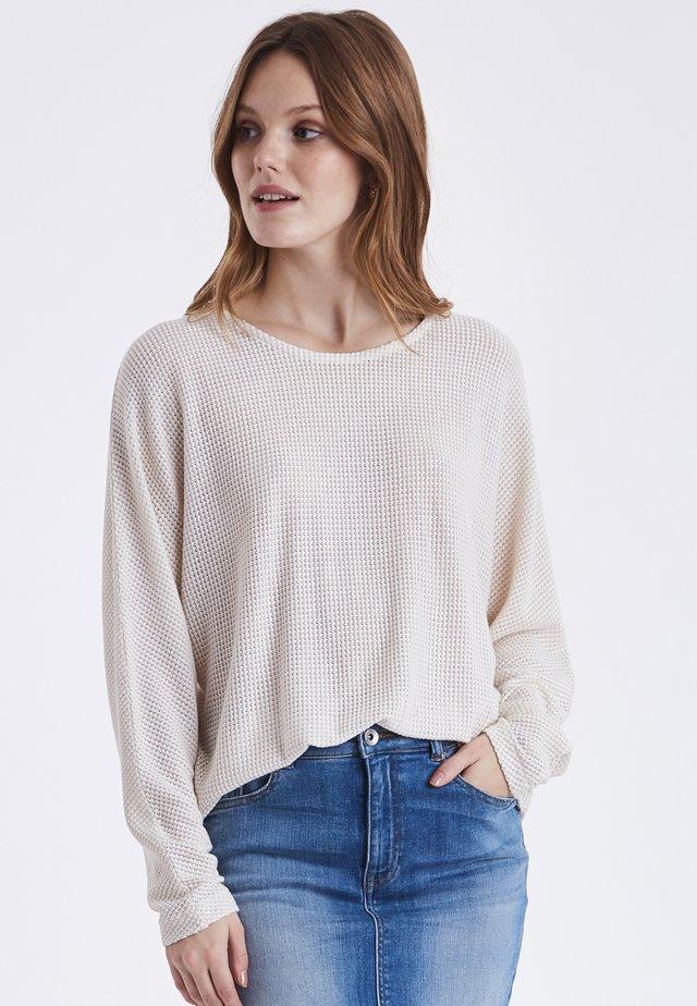 BYTAMTA  - Stickad tröja - marshmallow