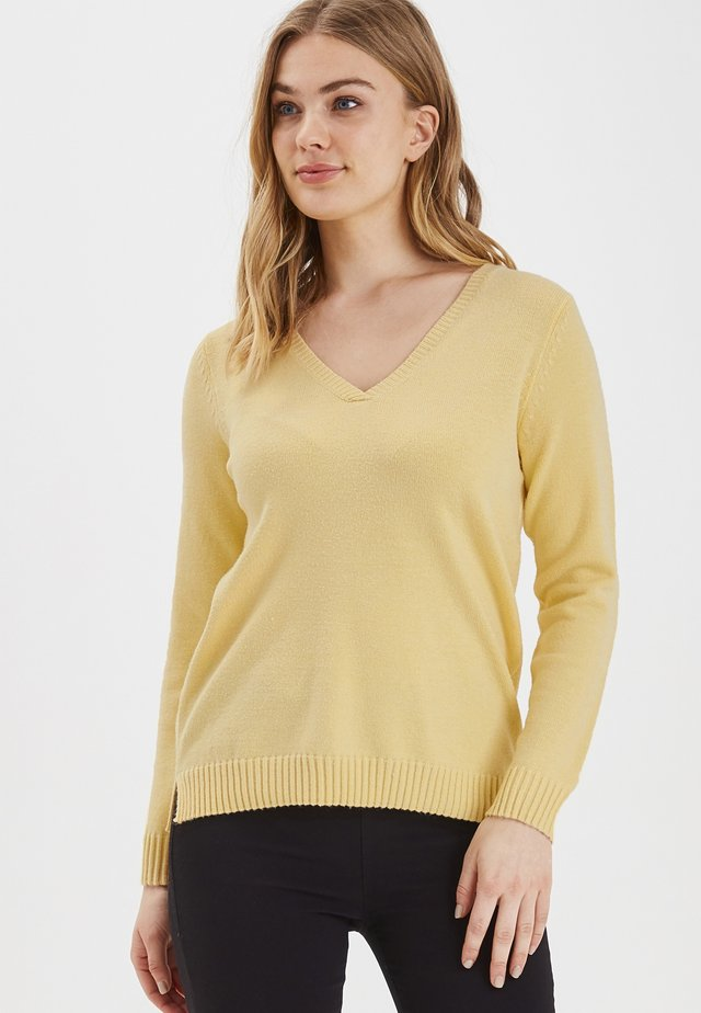 BYNONINA V JUMPER - KNIT - Jumper - mottled yellow