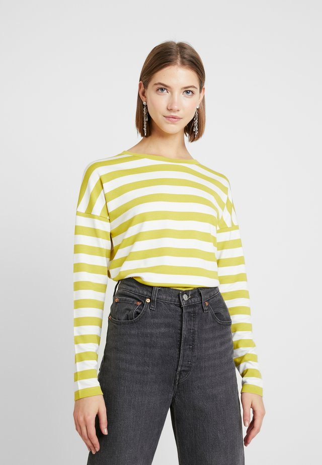 BYTIMO STRIPE - Long sleeved top - acid yellow combi