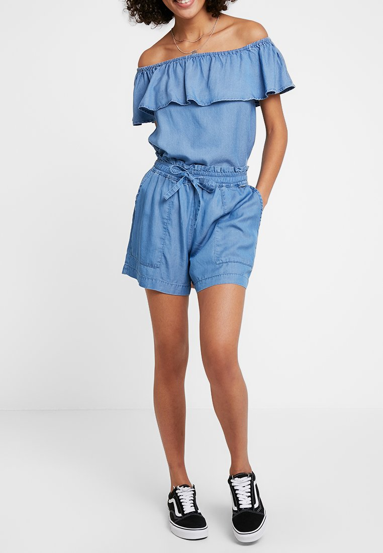 b.young - BYHARIMO - Shorts - chambray blue