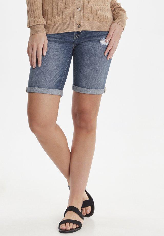 BYKATO BYLUXE  - Denim shorts - blue denim