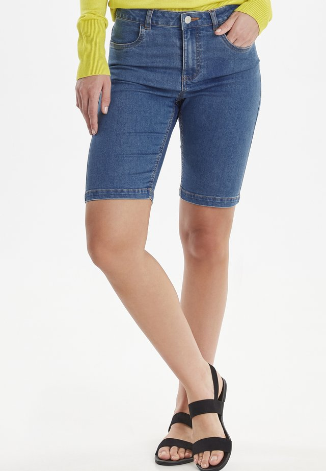 BYLOLA  - Denim shorts - med  blue denim