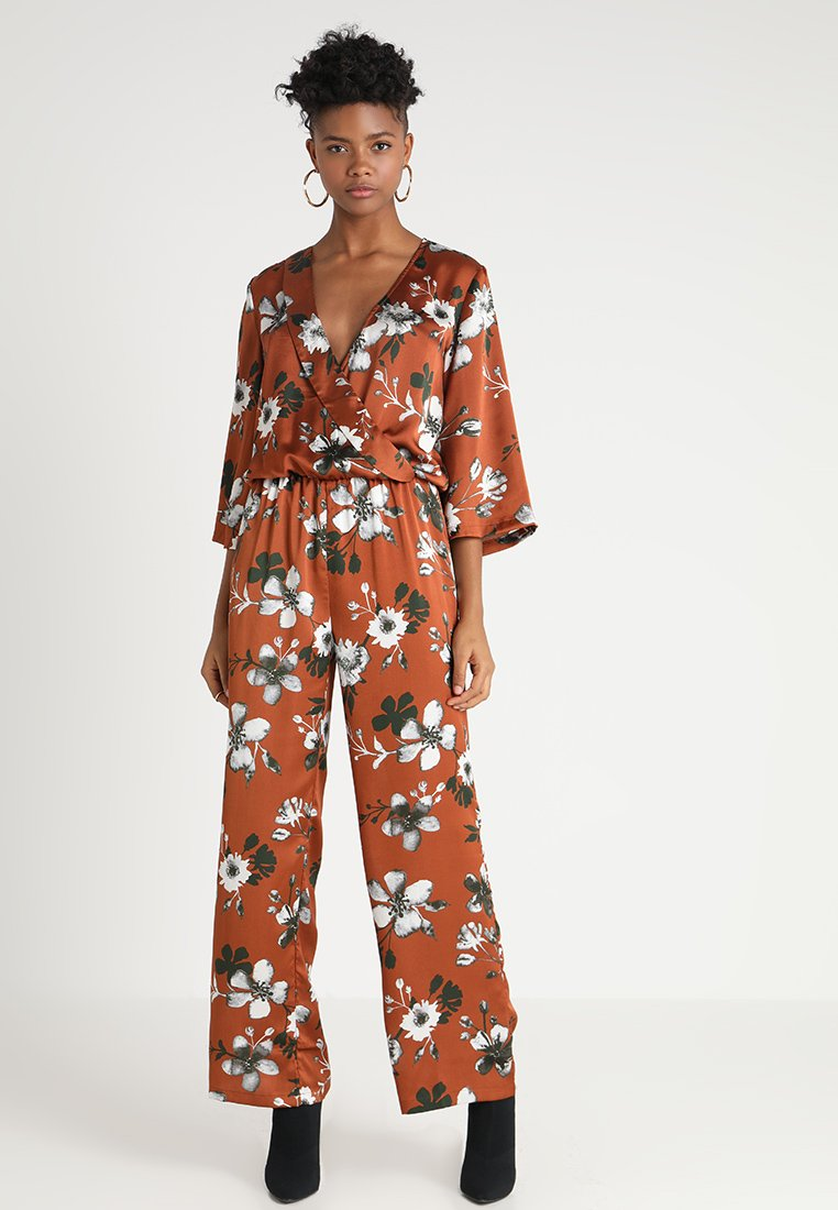 b.young - Overall / Jumpsuit /Buksedragter - brown combi