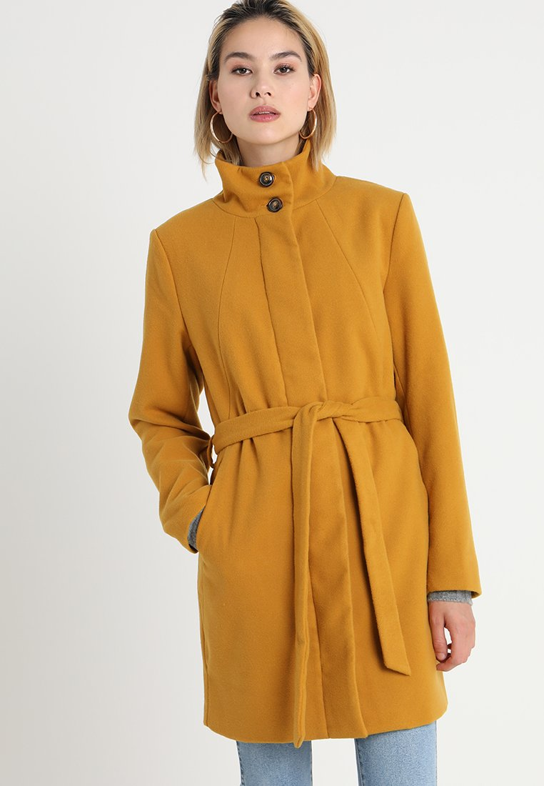 b.young - CIRLINE - Wollmantel/klassischer Mantel - ochre yellow
