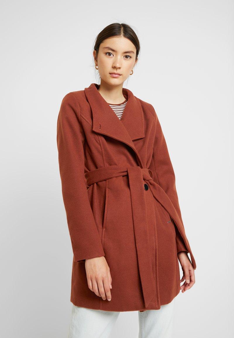 b.young - CIRLINE JACKET BELT - Zimní kabát - dark copper