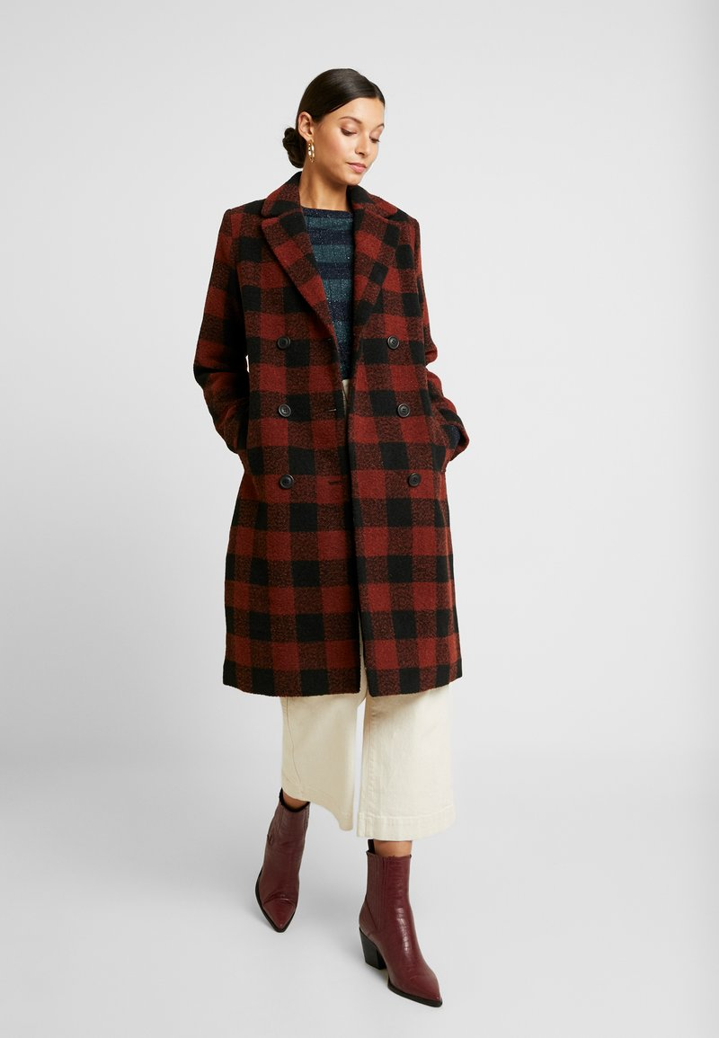 b.young - BYARIANA COAT - Classic coat - dark copper combi