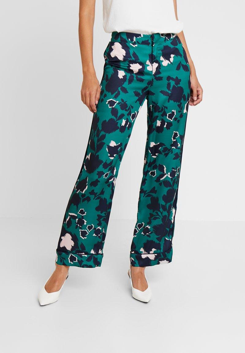 By Malina - FRANCA PANTS - Trousers - shadow/green