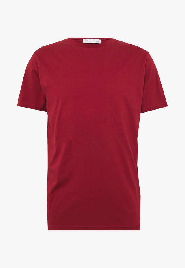 UNISEX THE ORGANIC TEE - T-shirt basic - merlot
