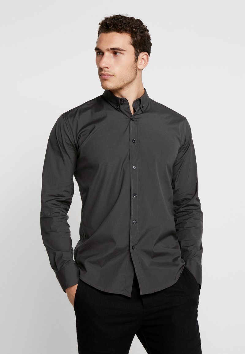 BY GARMENT MAKERS - THE ORGANIC SHIRT - Overhemd - anthracite