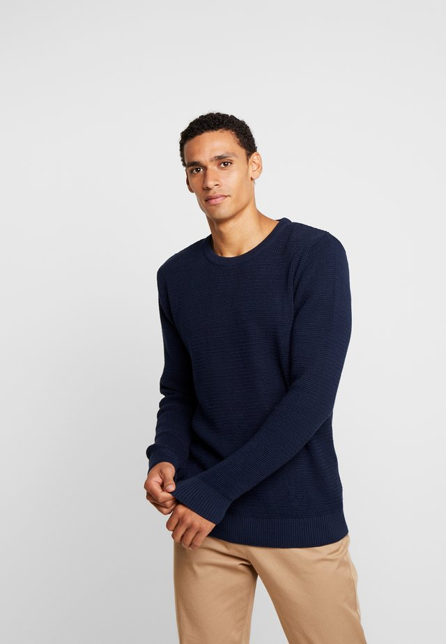 THE ORGANIC - Strickpullover - dark blue