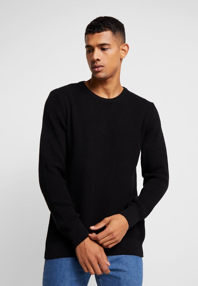 THE ORGANIC - Strickpullover - black