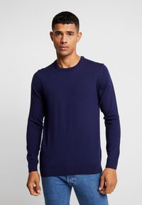 BY GARMENT MAKERS - THE MERINO KNIT ORGANIC - Strickpullover - dark blue - 0