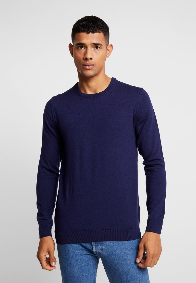 BY GARMENT MAKERS - THE MERINO KNIT ORGANIC - Strickpullover - dark blue