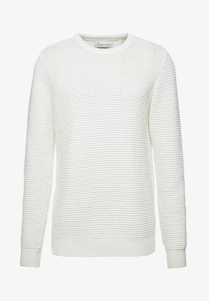 THE ORGANIC PLAIN - Stickad tröja - marshmallow