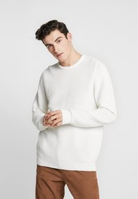 BY GARMENT MAKERS - THE ORGANIC PLAIN - Pullover - marshmallow - 0