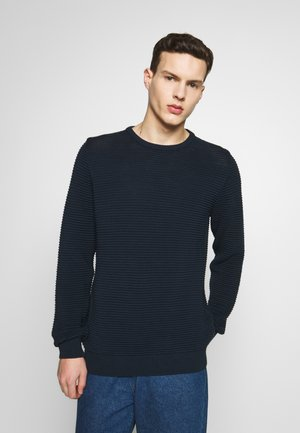 THE ORGANIC PLAIN - Strickpullover - navy blazer