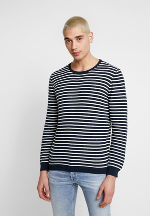 THE ORGANIC MULTISTRIPED KNIT - Jumper - navy blazer