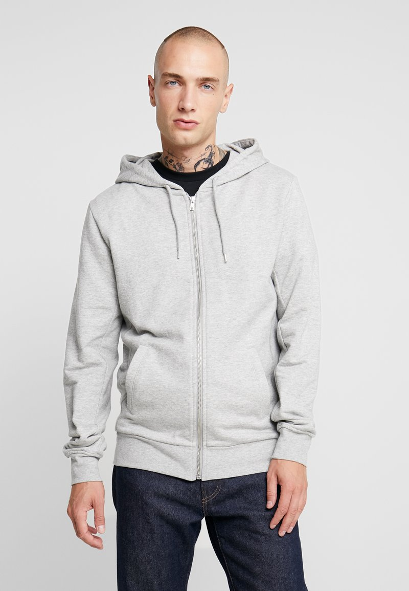 BY GARMENT MAKERS - THE ORGANIC HOODY - Mikina na zip - grey