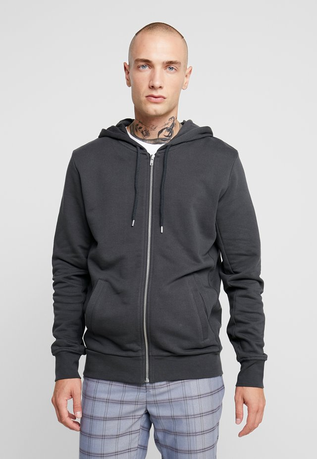 THE ORGANIC HOODY - Sweatjacke - anthracite
