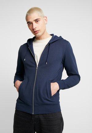 THE ORGANIC HOODIE - Hoodie met rits - navy blazer