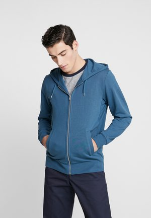 THE ORGANIC HOODIE - Mikina na zip - petroleum blue