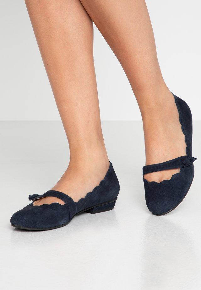 CARLA - Ankle strap ballet pumps - navy