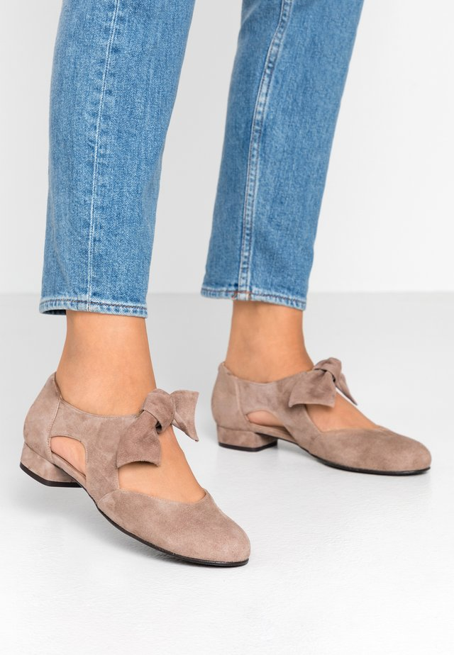 GABI - Ankle strap ballet pumps - taupe