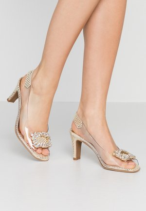 ARIES - Peep toes - kerry champagne/oro cristal