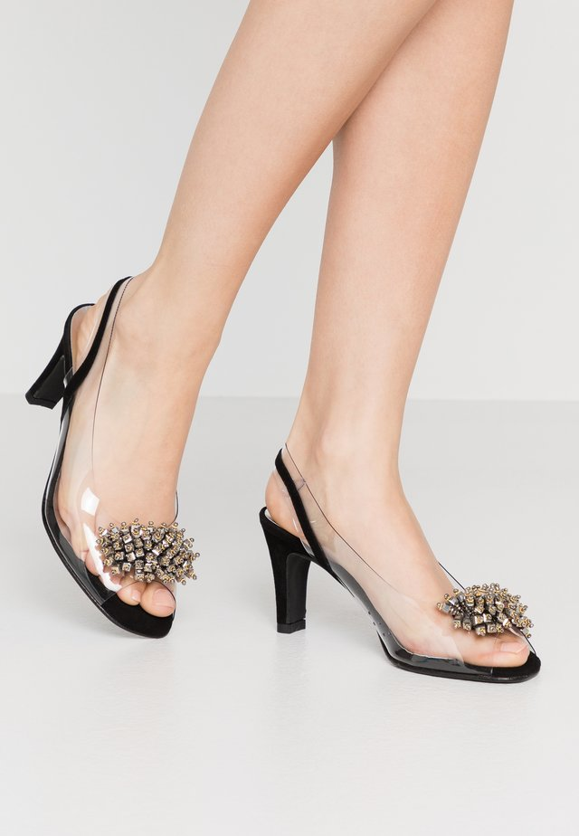ARIES - Peep toes - black