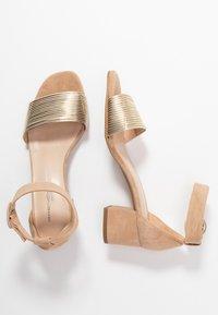 Brenda Zaro - ERICA NEW - Sandalias - platino matte/sand/camel - 3