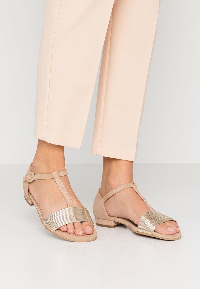 MILAN - Sandals - platino matte sand/camel