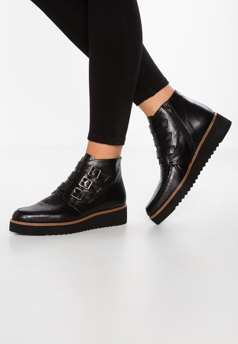 Brenda Zaro - AMANDA - Ankle boots - black/yango black